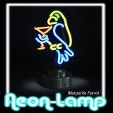 Lampada al neon del tubo di vetro del regalo di natale di Hotsale del pappagallo variopinto di Margarita