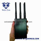 6 안테나 까만 휴대용 WiFi 3G 4G 전화 신호 방해기