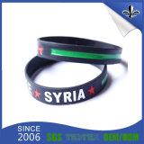 Kundenspezifisches Firmenzeichen gedruckter Silikon-GummiWristband