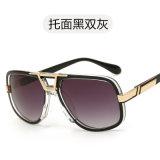 Óculos de Sol Vintage de plástico grande Praça óculos de sol para homens