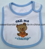中国の工場農産物はプリント綿のテリーの幼児白い赤ん坊のDroolerの胸当てをカスタム設計する