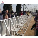 Barricada de la policía de las barreras de control peatonal
