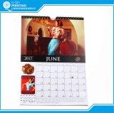 Календар стены офсетной печати 2018 качества внушительный изготовленный на заказ