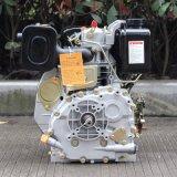 バイソン(中国)単一シリンダー縦シャフトのディーゼル機関、モデル170fディーゼル機関、主開始5HPの水ポンプのディーゼル機関