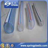 Boyau de jardin transparent d'espace libre flexible en plastique de douche de PVC