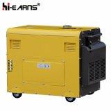 Tipo silenzioso raffreddato ad aria generatore diesel del singolo cilindro a tre fasi (DG5500SE3)