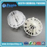 Plastique creux polyédriques ball balle en plastique en polypropylène pour périphérique Decarburization