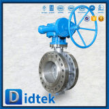 Didtekの三倍のオフセットのフランジCF8mの蝶弁の変速機の製造業者