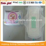 Les garnitures sanitaires du meilleur anion de dames, garnitures sanitaires de femmes avec l'ion de Negetive élimine le constructeur de la Chine