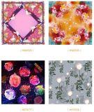 Kundenspezifisches Digital-Drucken-Silk quadratischer Schal mit niedrigem MOQ