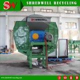 Eixo dobro que esmaga a máquina para recicl a madeira/pneu/metal