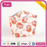 Bolsa de papel revestida del regalo de la flor del arte anaranjado de la manera