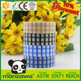高品質の強い接着剤接着剤の残余の黒の青いトレインのレジ係の格子ホイルのペーパーWashiの保護テープの卸売無し