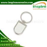 Espaço em branco Keychain da liga do zinco para o projeto do OEM