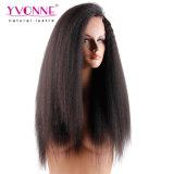 Yvonne 브라질 머리 레이스 정면 가발 비꼬인 똑바른 인간적인 Virgin 머리