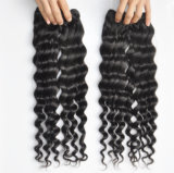 Do Virgin profundo da onda de 100% extensão indiana do cabelo humano