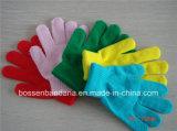 中国の工場農産物はロゴによって印刷された赤いアクリルの魔法スクリーンの接触手袋をカスタマイズした