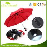 2017 горячая продажа складной зонтик УФ-Полностью автоматический со светодиодной подсветкой пляжный зонтик
