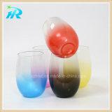Самый лучший продавая кубок покрашенный пластмассой стеклянный для вина