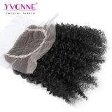 Arricciatura crespa del Virgin di Yvonne di Remy dei capelli umani del merletto della parte superiore di Afro brasiliano all'ingrosso della chiusura