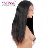 Proveedor mayorista de cabello humano Brasileña de encaje completo recta peluca