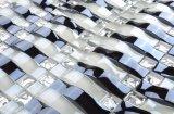 工場水晶厚さ8mmの濃紺の波状のガラスモザイク・タイル