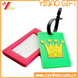 Tag macio colorido do Tag da bagagem do PVC com seu logotipo do projeto
