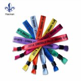 Custom Festival baratos coloridas pulseras de tela tejida