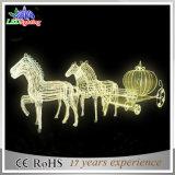 Weihnachtskürbis-Pferd Carraige im Freien LED Dekoration-Lichter