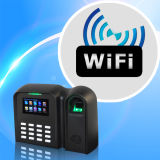 Dispositivo de asistencia biométrico de huellas dactilares tiempo soporte WiFi (Qclear-C/WiFi)