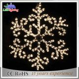 Lumière extérieure de motif de décoration de DEL de grand Noël blanc de flocons de neige