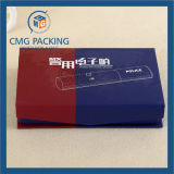 Schwarze Luxuxpappschmucksachen gefalteter Kasten (CMG-013)
