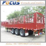 Acoplado superventas de la cerca/de la estaca semi para el cargo a granel del transporte/el animal/el grano