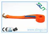 Courroies de fouettement de Sln 0.5tx5m avec le double crochet en J
