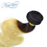 Мы волосы бразильского Weave девственницы объемной волны перевозкы груза белокурые