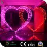 3D Motif de mariage de feux de la lumière de décoration pour l'extérieur des décorations de mariage