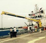 De hydraulische Telescopische Kraan van het Schip van de Boom met ABS BV- Certificaat