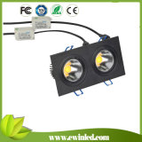 Kitchens를 위한 2*6W COB Power High Brightness LED Square Downlights