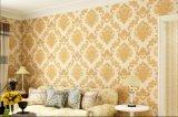 Chambre à coucher de style campagnard de papier peint décoratif