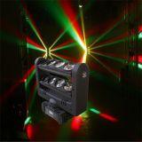 8PC 10W 크리 사람 RGBW LED 거미 광속 이동하는 맨 위 빛