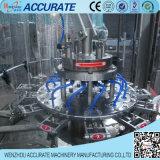 Máquina que capsula de relleno líquida semi rotatoria del fregado de las botellas