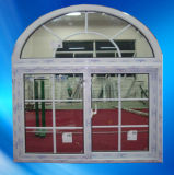 Doppeltes Glazing UPVC/PVC Sliding Window mit Arch