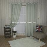 Padrão moderno de tiragem de tela de cortina de janela Tente de linho