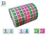 El papel de aluminio para toallitas removedor de esmalte de uñas de los rayos UV