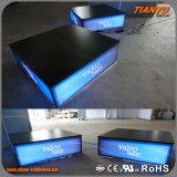 Коробка торговой выставки СИД алюминиевой ткани промотирования алюминиевая светлая
