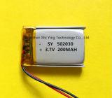Batteria della batteria 200mAh 3.7V Lipo del polimero dello ione del litio con il PCM