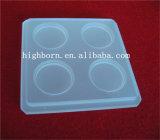 Hot vendre morceau de verre de quartz carrée transparente