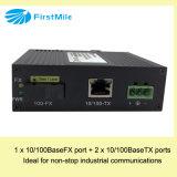Convertitore gestito di media della fibra con Ethernet veloce