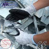 Перчатка работы безопасности Nmsafety отрезанная En388 упорным покрынная нитрилом
