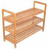 Livre Multifuncional Rack Sapata permanente com pegas de Endereços Rack de armazenamento de bambu Tier 3